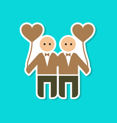 Paper sticker on stylish background of homosexual vector
