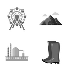Park oil refinery and other monochrome icon in vector