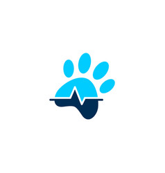pet paw clinic health logo icon vector image