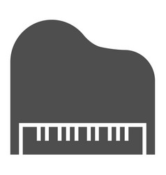 piano glyph icon musical and sound instrument vector image