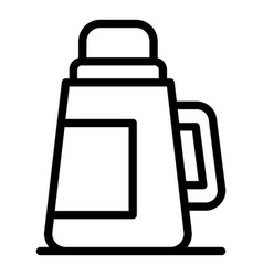 Plastic thermos icon outline style vector