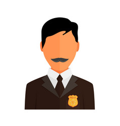 Police officer avatar trendy policeman icon in vector