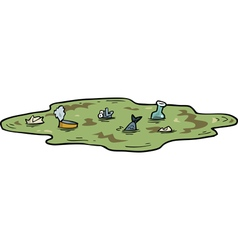 Polluted pond vector