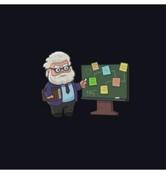 Professor character design vector image