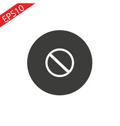 prohibition sign 3d icon at the white background vector image