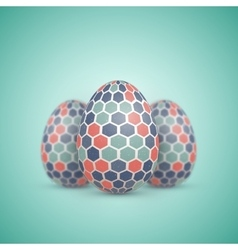 Realistic Easter Egg Icon Painted vector image
