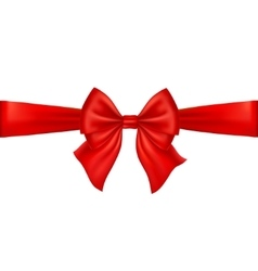Realistic red bow isolated on white background vector