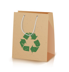 Recycling paper bag recycled vector