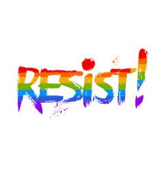 resist word lettering vector image