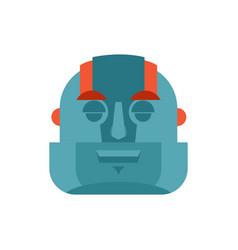 robot sleeping emoji cyborg asleep emotions vector image