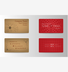 Set of creative business card print templates vector
