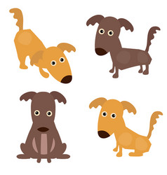 Set of cute dogs set of cute dogs vector