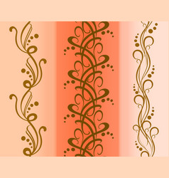 set of seamless floral patterns eps10 vector image