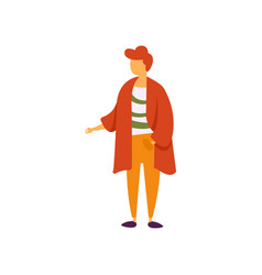 stylish fashionable young man in modern clothing vector image