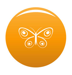 tiny butterfly icon orange vector image
