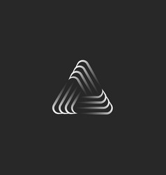 Triangle logo alliance symbol infinity geometric vector