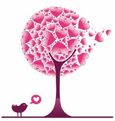 valentine decorative tree vector image