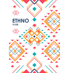 vertical background with geometric ethnic ornament vector image