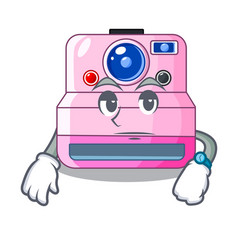 Waiting instant camera isolated on a mascot vector