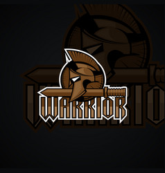 warrior logo high resolution image vector image