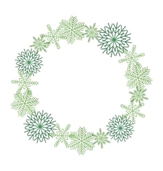 Winter snowflakes wreath vector image