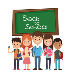 back to school group student smiling with vector image