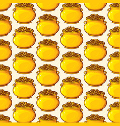 background pattern with potatoes vector image vector image