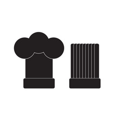 chef hat icon flat sign vector image