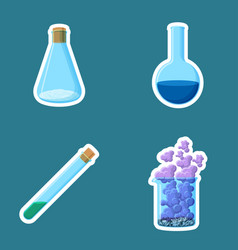 chemical equipment closed cone and open round vector image vector image