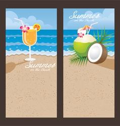 Coconut cocktail backdrop vector