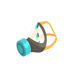 respirator protective equipment cartoon vector image