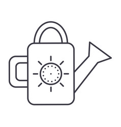 watering can line icon sign vector image