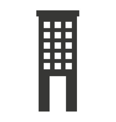 building construction silhouette icon vector image