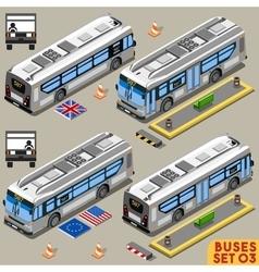 Bus Set 03 Vehicle Isometric vector image vector image