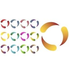 Circles logo set vector image vector image