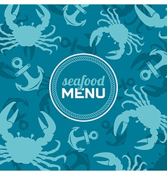 Seafood menu 2 vector