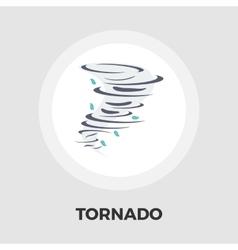 Tornado icon flat vector image vector image