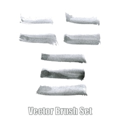 Brushes ink watercolor set vector image