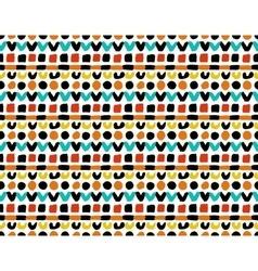 Colorful Geometric Painted Pattern vector image vector image