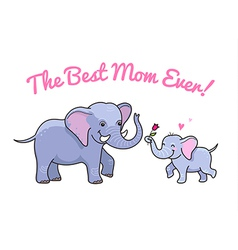 elephant mom flower vector image vector image