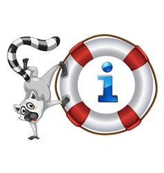 Lemur Information Kiosk Sign vector image vector image