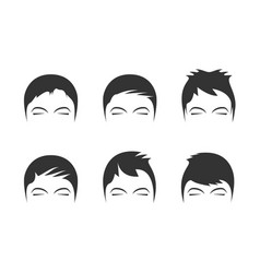 mens hairstyles vector image vector image