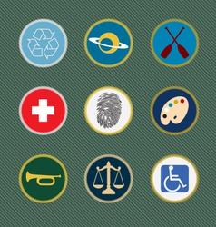 Merit Badges vector image vector image