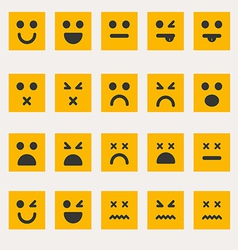 Set smileys emoticons vector image
