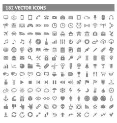 182 icons and pictograms set vector image