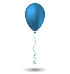 blue balloon on white background vector image vector image