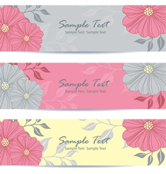 Floral banner vector image vector image