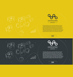 line style design for web site banner template vector image vector image