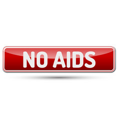 no aids - abstract beautiful button with text vector image