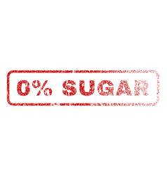 0 percent sugar rubber stamp vector image
